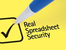 Real spreadsheet security tick